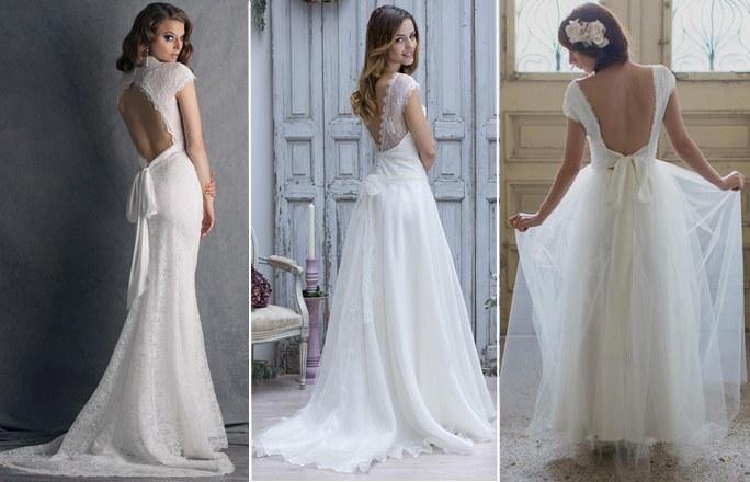 Brautkleider in Rückenausschnitte