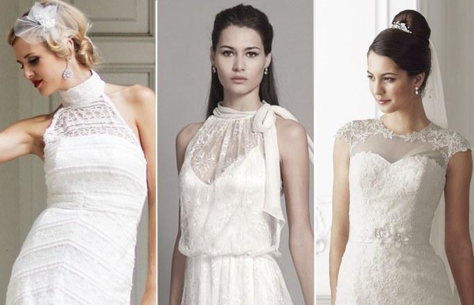Brautkleider in transparente Ausschnitte