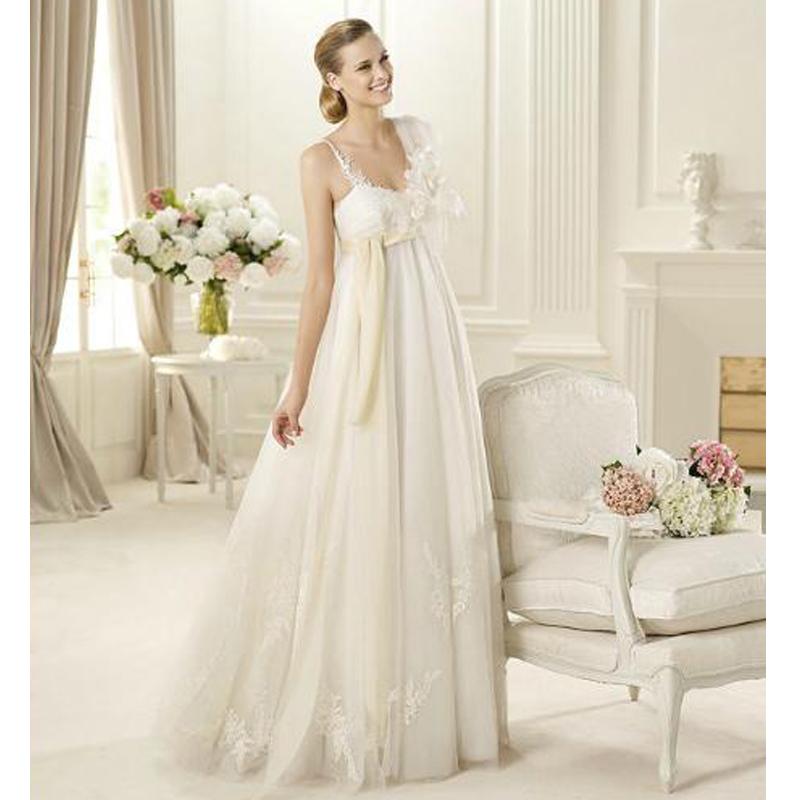 Weiße elegante Schwangere Brautkleider A-Linie