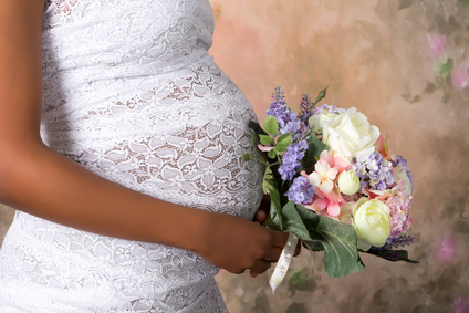 Braut in Schwangere