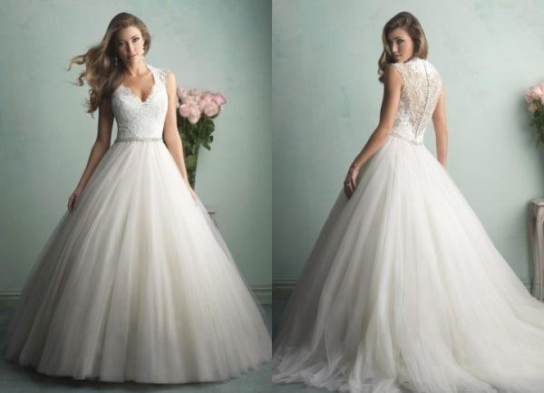 Hochzeitskleider Prinzessin: Brautkleid mit spitze und t?ll ...