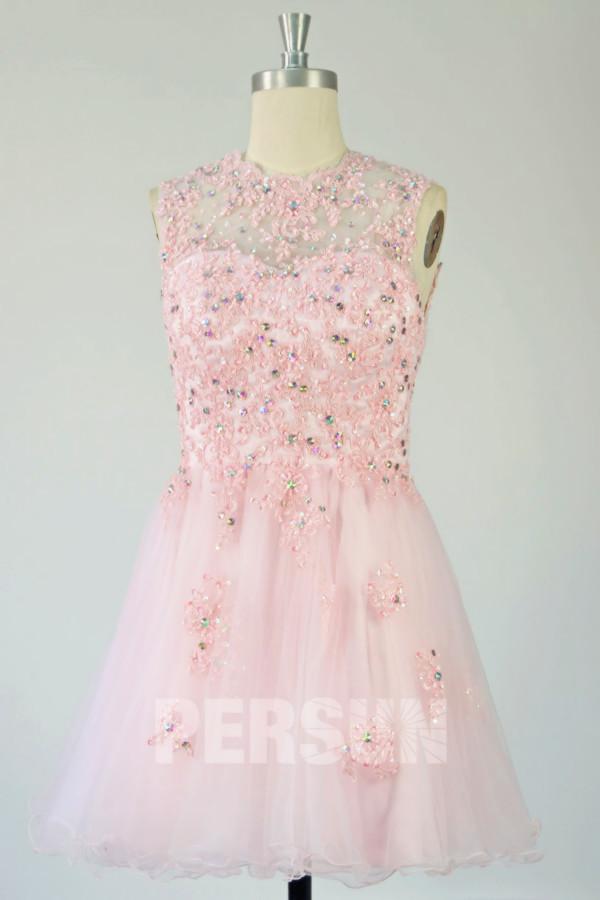Süß Rosa Mini Kleid-PERSUNKLEID