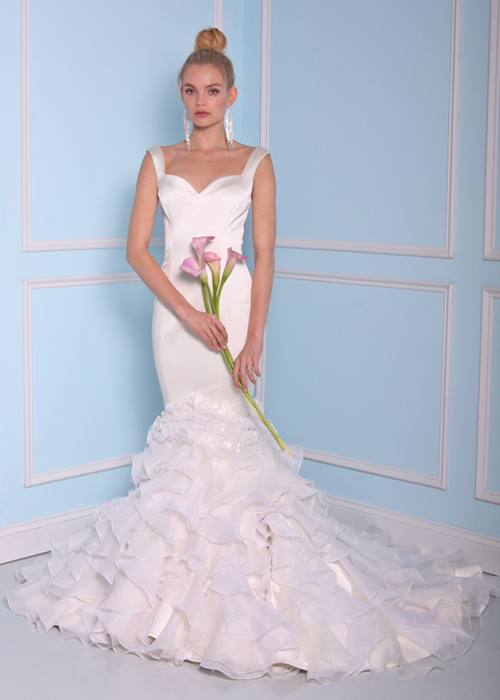 Schön-Meerjungfrau-Stil-Ivory-Brautkleider