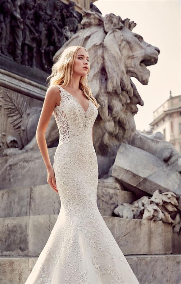Brautkleid-Meerjungfrau-Stil