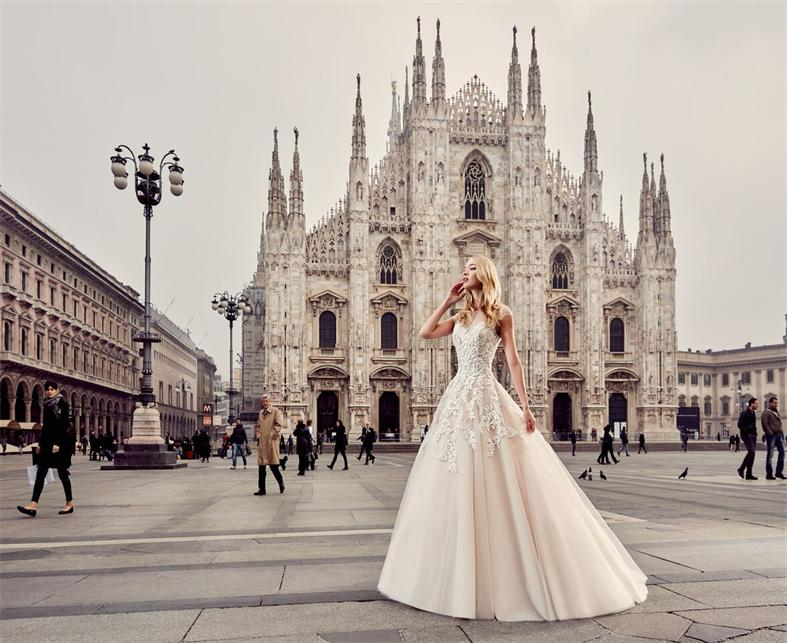 Elegante-Brautkleid