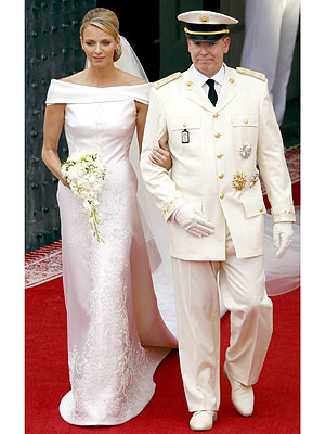 Albert II. von Monaco und Charlène Wittstock