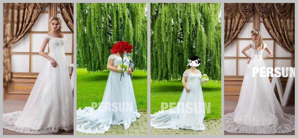 Weiß toll Brautkleider aus Tüll