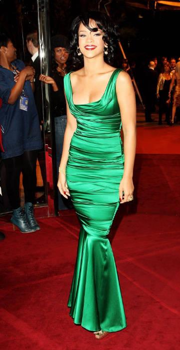 grün Abendkleider