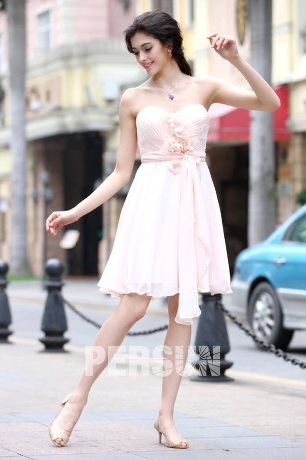 rosa kurz empire Abendkleider