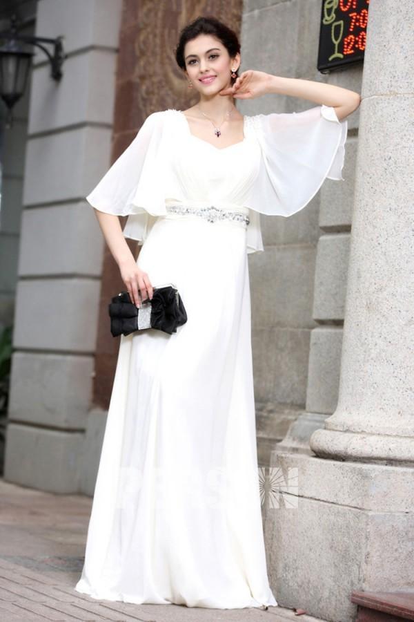 weiß elegant perlen schön Abendkleider 2016